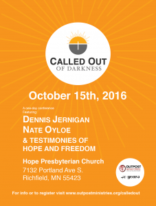 Called Out of Darkness Celebration