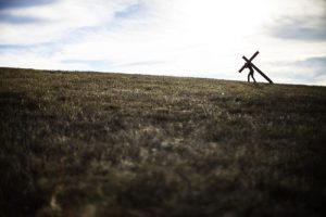 Man Carrying Cross Graphic