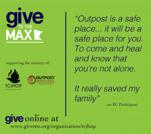Give to the Max Day Testimonial: Outpost really saved my family
